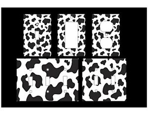 ANIMAL PRINT - COW Light Switch Covers Home Decor Oultet MULTIPLE OPTIONS