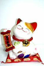 "10"" Japanese Ceramic Maneki Meko Lucky Cat Saving Bank (SC53173) Ornament"