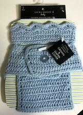 Laura Ashley Baby Crocheted Crown and Diaper Cover Blue Ret. $19.99 Nwt