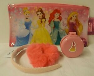 Disney Princess Belle theme gift set - make-up bag with pink hair accessories
