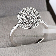 B1-R473 Fashion 11mm Shamballa Ball Ring 18KGP CZ Rhinestone Crystal Size 5.5-9