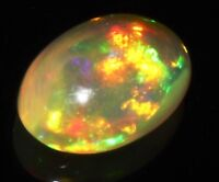 1.72 TCW  7.5X11 MM 1 PCS NATURAL ETHIOPIAN WELO FIRE OPAL CAB * EB1310