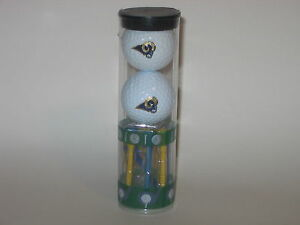 St. Louis Rams 2 Logo Golf Balls and 8 Team Tees In Cylinder