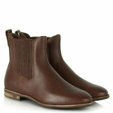 UGG® AUSTRALIA JOEY BROWN LEATHER CHELSEA ANKLE BOOTS UK 3.5 EU 36 US 5 RRP £155