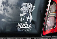 Vizsla - Car Window Sticker - Hungarian Vizsla Magyar Dog on Board Sign - TYP2