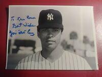Jose Cruz Sr New York Yankees  1970s Autograph Signed Photo