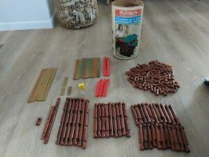 VINTAGE Lincoln Logs 144 Pieces Frontiersman Set