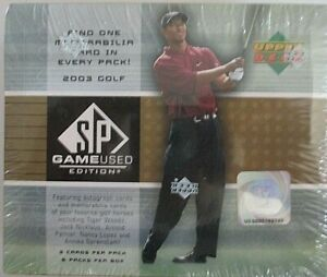 2003 UPPER DECK GAME USED FACTORY SEALED GOLF CARD HOBBY BOX WOODS AUTO?-RARE