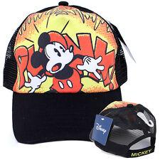 Disney Mickey Mouse Vintage Baseball Cap Mesh Back Adjustable Hat