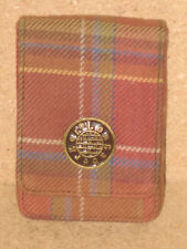 Longaberger Rare Card Case in toboso plaid fabric mint condition never used!