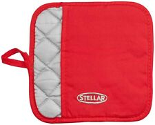 STELLAR Red Cotton Oven Pot Holder. Thermal Lined. Glove/Gloves/Mitt/Trivet