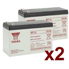2 x Yuasa NP7-12 Rechargeable 12v 7Ah Battery Pack Of 2 x Batteries VRLA
