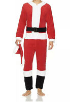 Briefly stated mens santa union suit mr. claus size Small