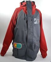 2014 MENS AIRBLASTER PARKER SNOWBOARD JACKET $270 L grey red USED