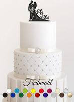 Tortenstecker Hochzeit personalisiert Cake Topper Acrylglas Figur WUNSCHFARBE