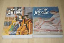 lot 2 Livres Histoire de la Famille tomes 1 et 2 - Armand Colin