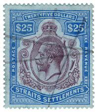 (I.B) Malaya (Straits Settlements) Revenue : Duty Stamp $25