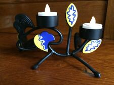PARTYLITE DOUBLE SIDED Wrought Iron PROVENCE TEALIGHT HOLDER  P7744 Retired