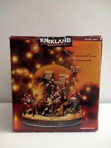 Kirkland Christmas Waterglobe Snowglobe Nativity Jesus Revolving Base w/Box