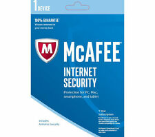 McAfee Internet Security For MAC Only,  1 Year Single Device Code x5 Codes
