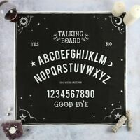 Ouija Board Altar Cloth talking gothic wall hanging Black Magic Witch Spell Emo