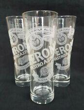 3 Stunning PERONI NASTRO AZZURRO LAGER Half Pint Glasses - NEW - Home Bar - Pub