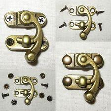 Mittelalter Haken Verschluss Schatullen Taschen Riegel Taschenschloss Bronze NEU