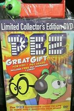 PEZ, NEW! DVD with Dispenser Collectors Edition 2 Movies,Sing,Video,Gift Kids