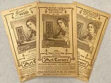 Engel's Art Corners~THREE Packages of Gummed Corners for RPPCs Photos & Albums