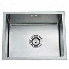 """Satin Stainless Steel Single Bowl 1.2mm thickness Kitchen Sink 24"""" x 18"""" x 9"""""""