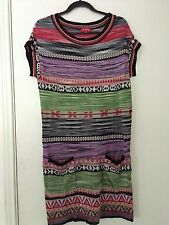 Rene Derhy Knit Aztec Dress L