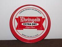 "VINTAGE BAR 11 3/4"" ACROSS RHEINGOLD LAGER BEER LIEBMANN  METAL SERVING TRAY"