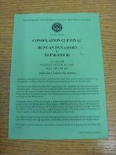 20/05/2001 Taza de Liga Shrewsbury domingo final de consolación: Duncan dynamoes V Mon