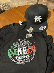Canelo Alvarez Hennessy Hat Tee Pin SET PPV CANELO SMITH FIGHT BOXING
