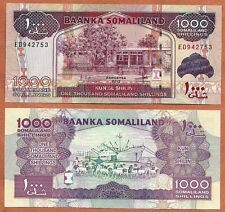 Somaliland 2012 GEM UNC 1000 Shillings Banknote Paper Money Bill P-20