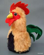 Steiff Buzzel Rooster Dralon Plush 20cm 8in 1970s Squeaker Felt Tail no ID Vtg