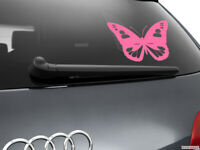 Butterfly Girl Car Styling Window Sticker Decal, Pink
