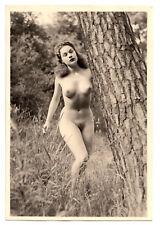 #737 RÖSSLER AKTFOTO / NUDE WOMAN STUDY * Vintage 1950s Outdoors Photo - no PC !