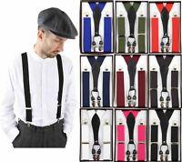 Mens Suspender Braces Classic Vintage Retro Trouser Gatsby Peaky Blinders