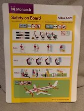 Monarch Airlines -  Airbus A320 -  Safety Card (last type - no date)