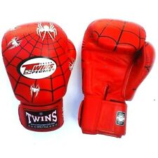 Twins Special Muay Thai MMA K1 Boxing Gloves USA STOCK Red Spider 12 oz