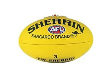 SHERRIN AFL Yellow Synthetic SIZE 3  Football