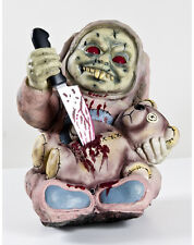Stabby Zombie Baby Animated Halloween Animatronic Prop w/ Bear