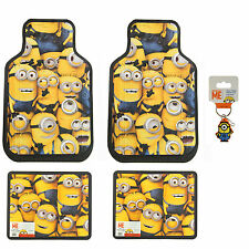 New 5pc Despicable Me Minions Car Truck All Weather Rubber Front Rear Floor Mats