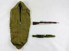 GI JOE Action Soldier BIVOUAC Sleeping Bag Set M-1 Rifle & Ammo Belt 1964 Hasbro