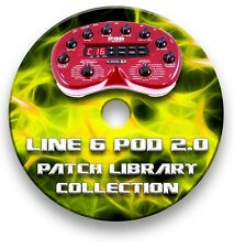 More details for line 6 pod 2.0 guitar effects pedals - sounds tone patches library 1650+ cd