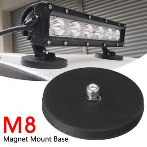 Car LED Work Light Bar Magnet Base Mounting Bracket Holder With Rubber Pa