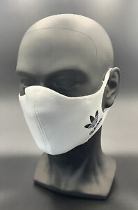 One (1) Adidas White Originals Face Mask Cover Authentic Size Large Athletic