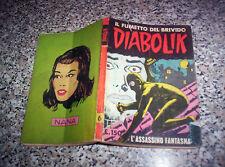 DIABOLIK PRIMA 1° SERIE ORIGINALE N.6 DEL 1963 INGOGLIA  M.BUONO TIPO KRIMINAL