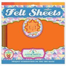 Eeboo Orange Felt Sheets Sun Color, 5 sheets